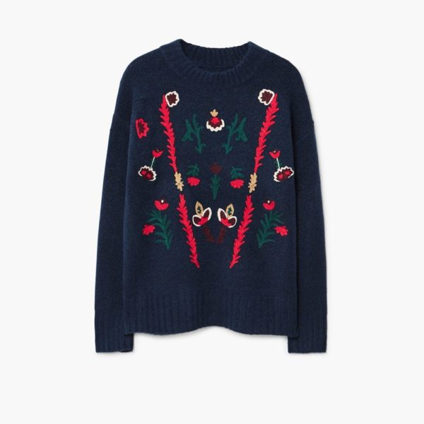 Mango embroidered jumper