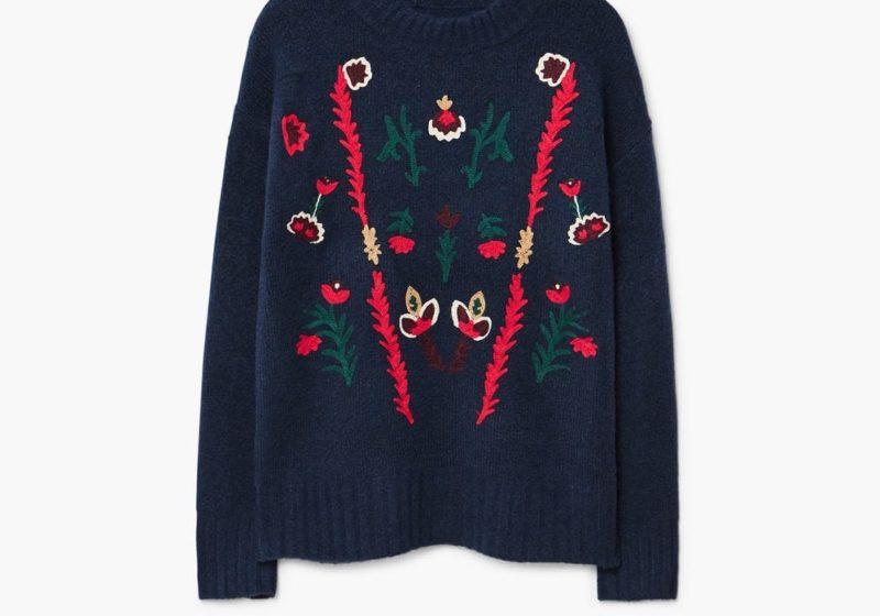 Mango embroidered jumper