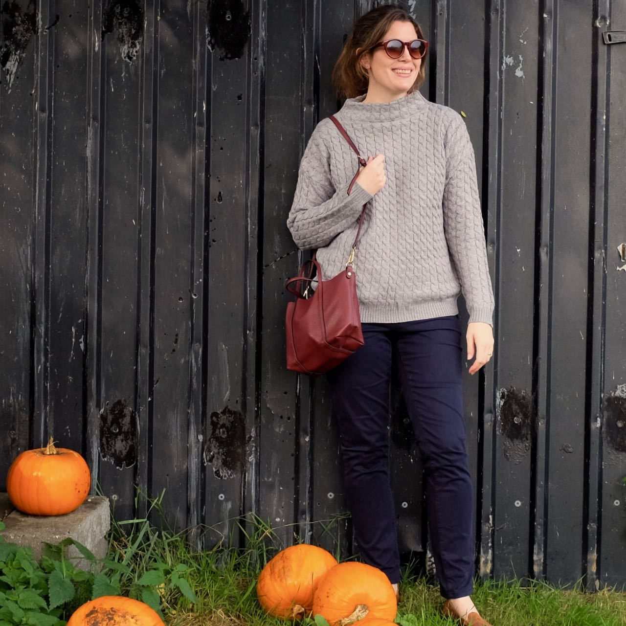 Mango autumn jumper and bag