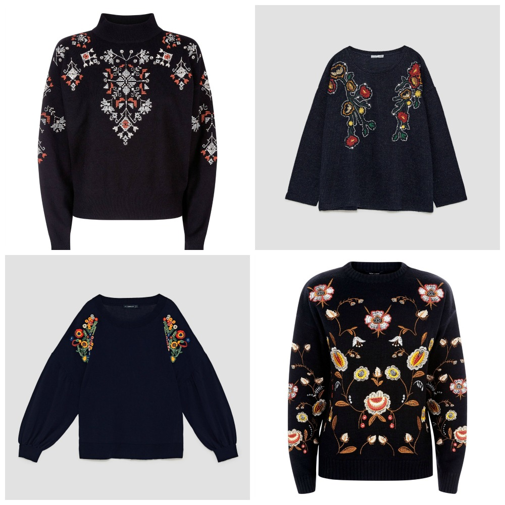 Marmalade Pie: Embroidered jumpers