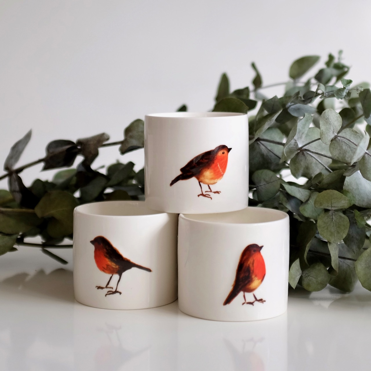 Robin candles by Sainsbury's