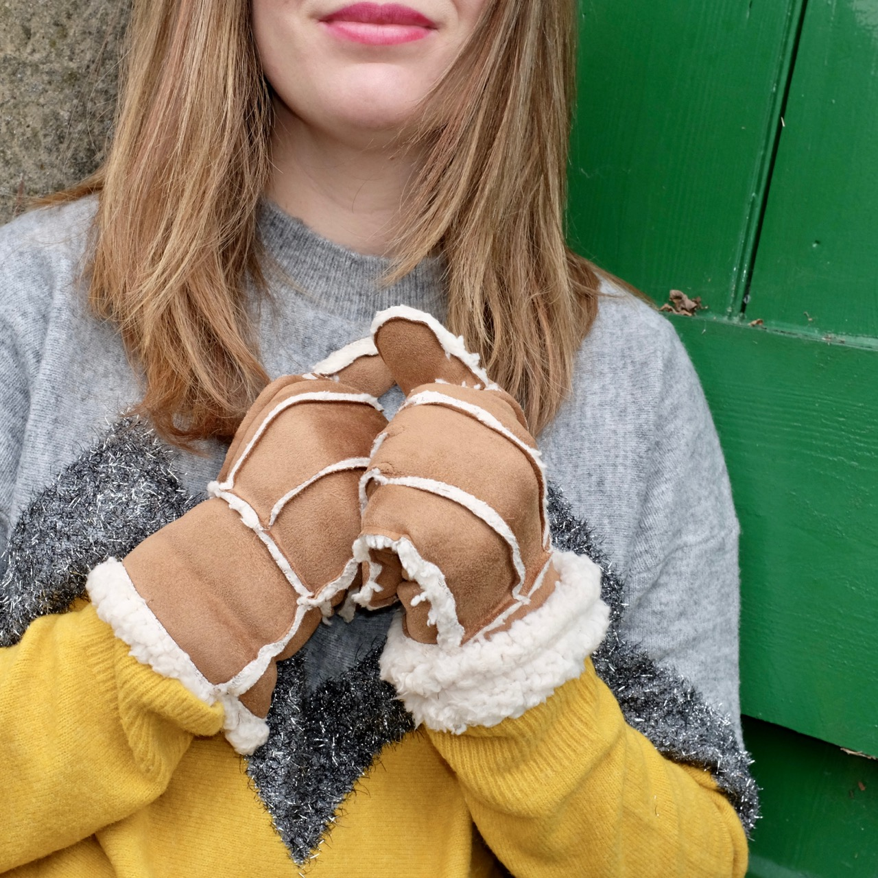 New Look Shearling Gloves