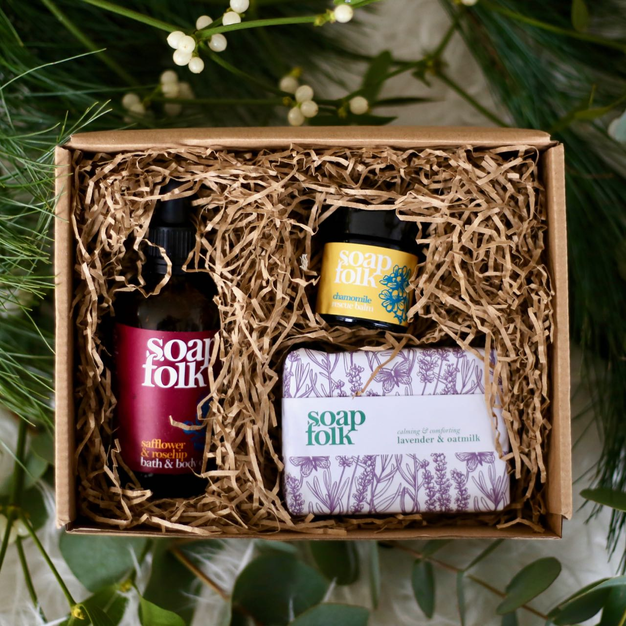Winter Skin Collection box by Soap Folk