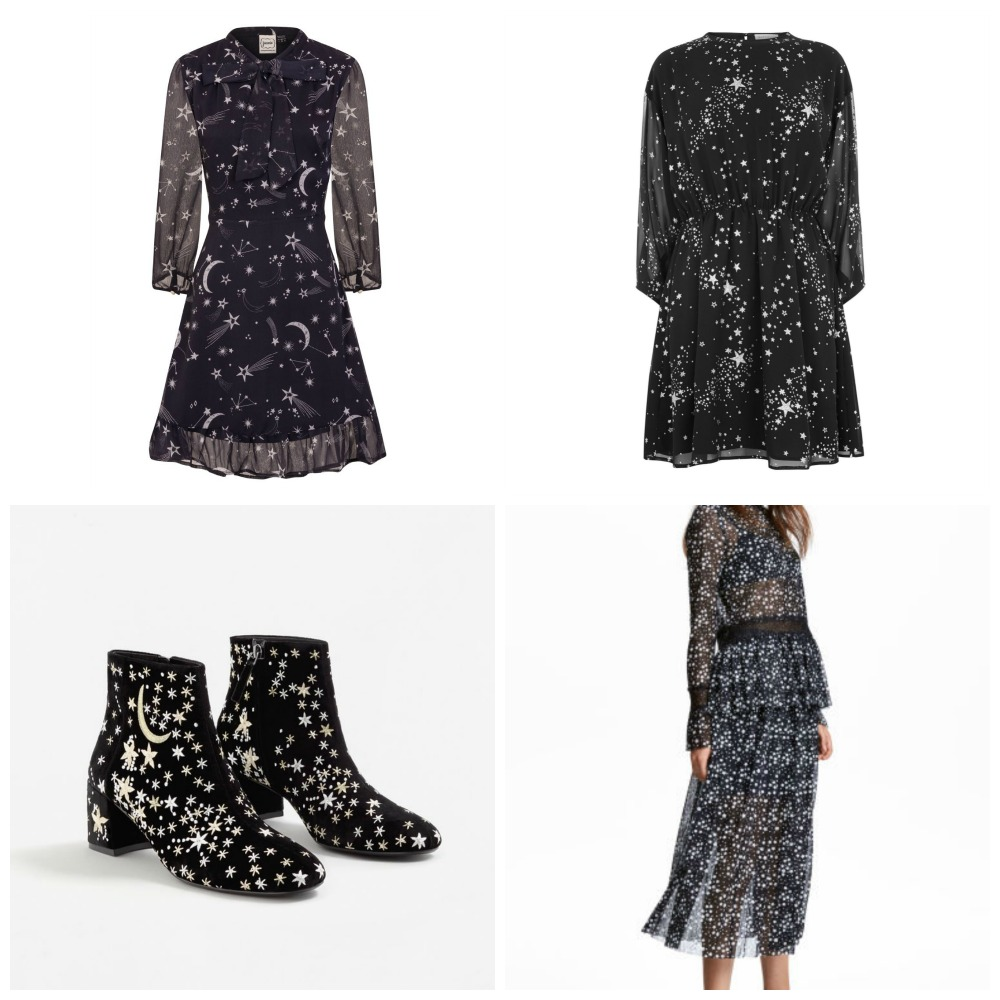 Starry print Christmas party clothes