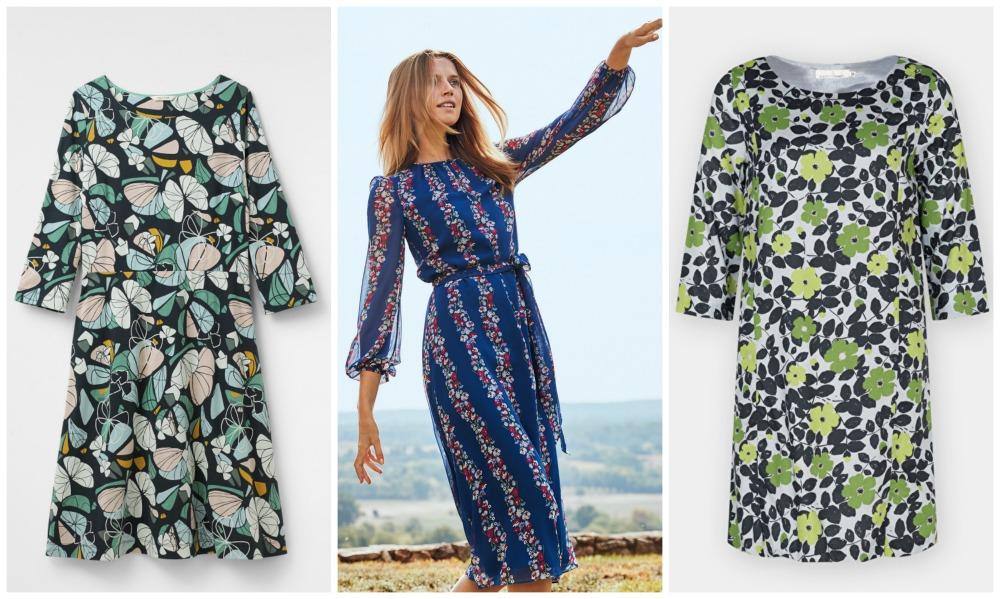 S/S18 Botanical floral print dresses