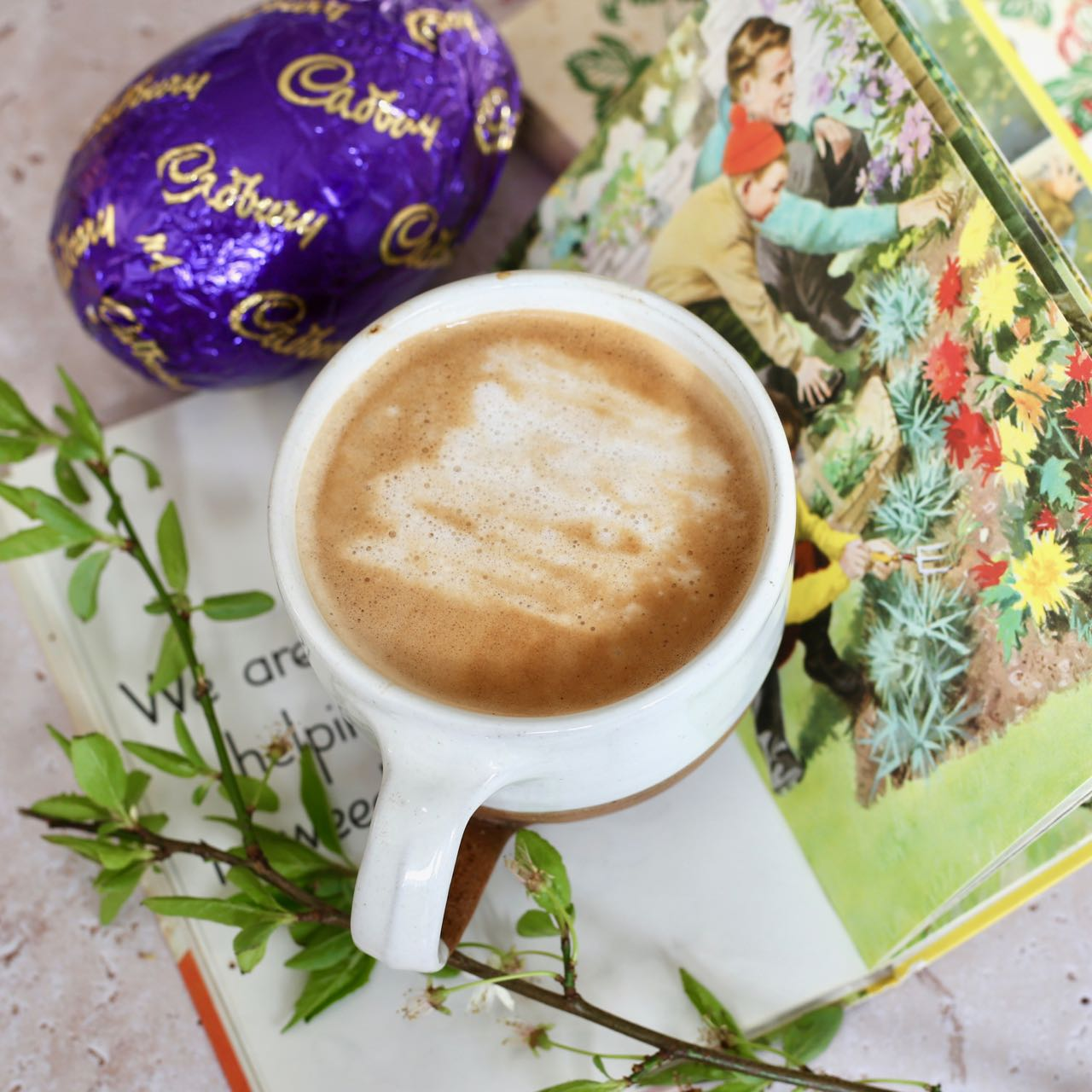 Cup of coffee and an Easter egg