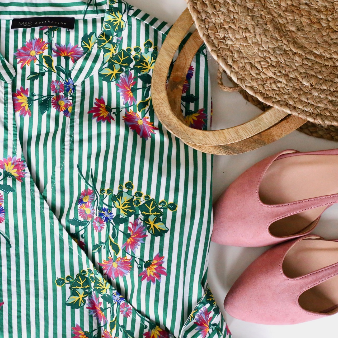 Spring clothes flat-lay