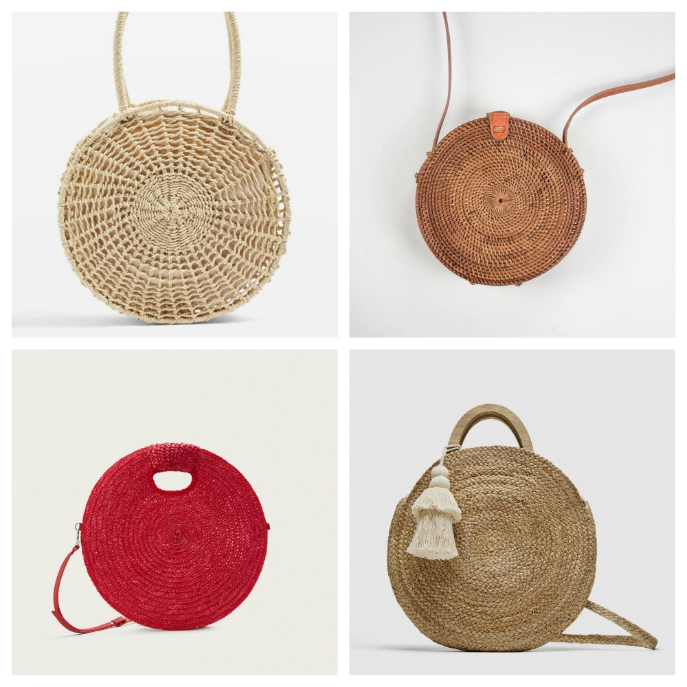 Round basket bags