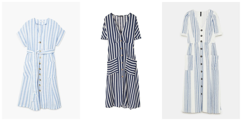 Stripy shirt dresses