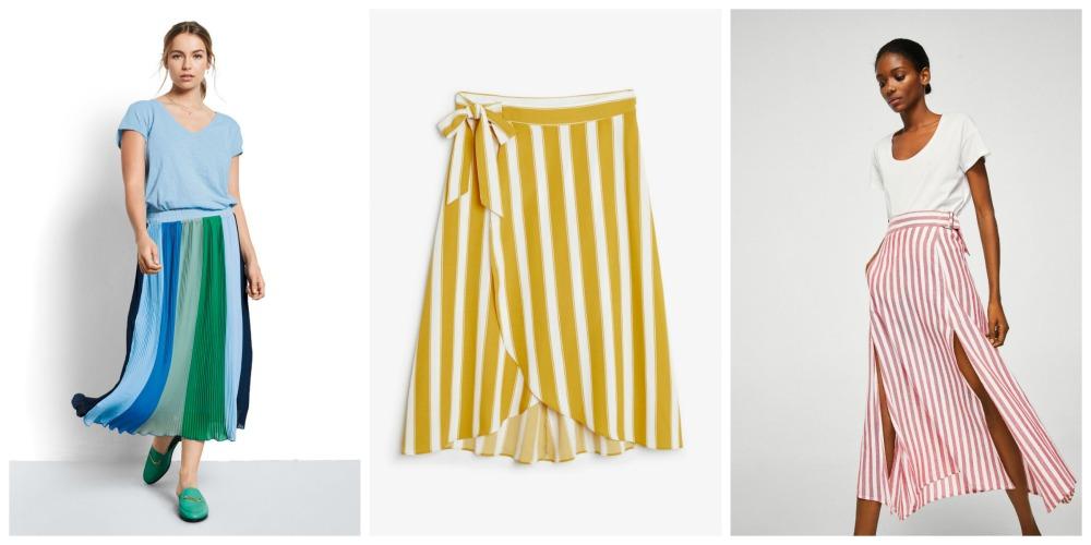 Stripy skirts
