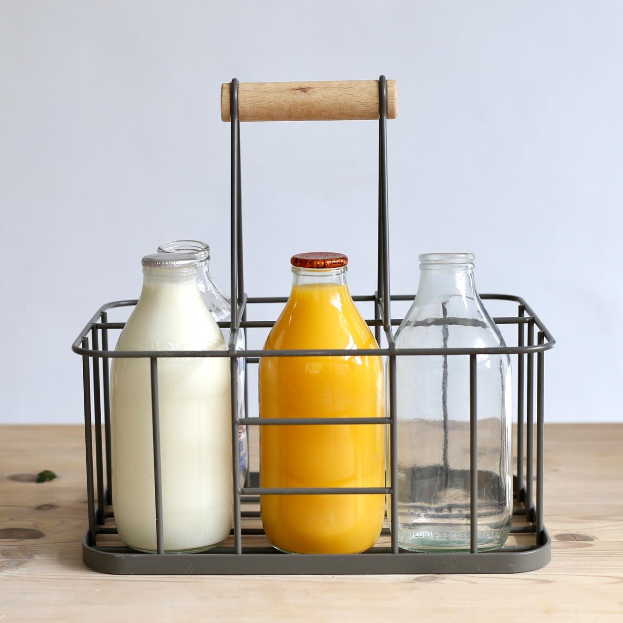 Milk in glass bottles