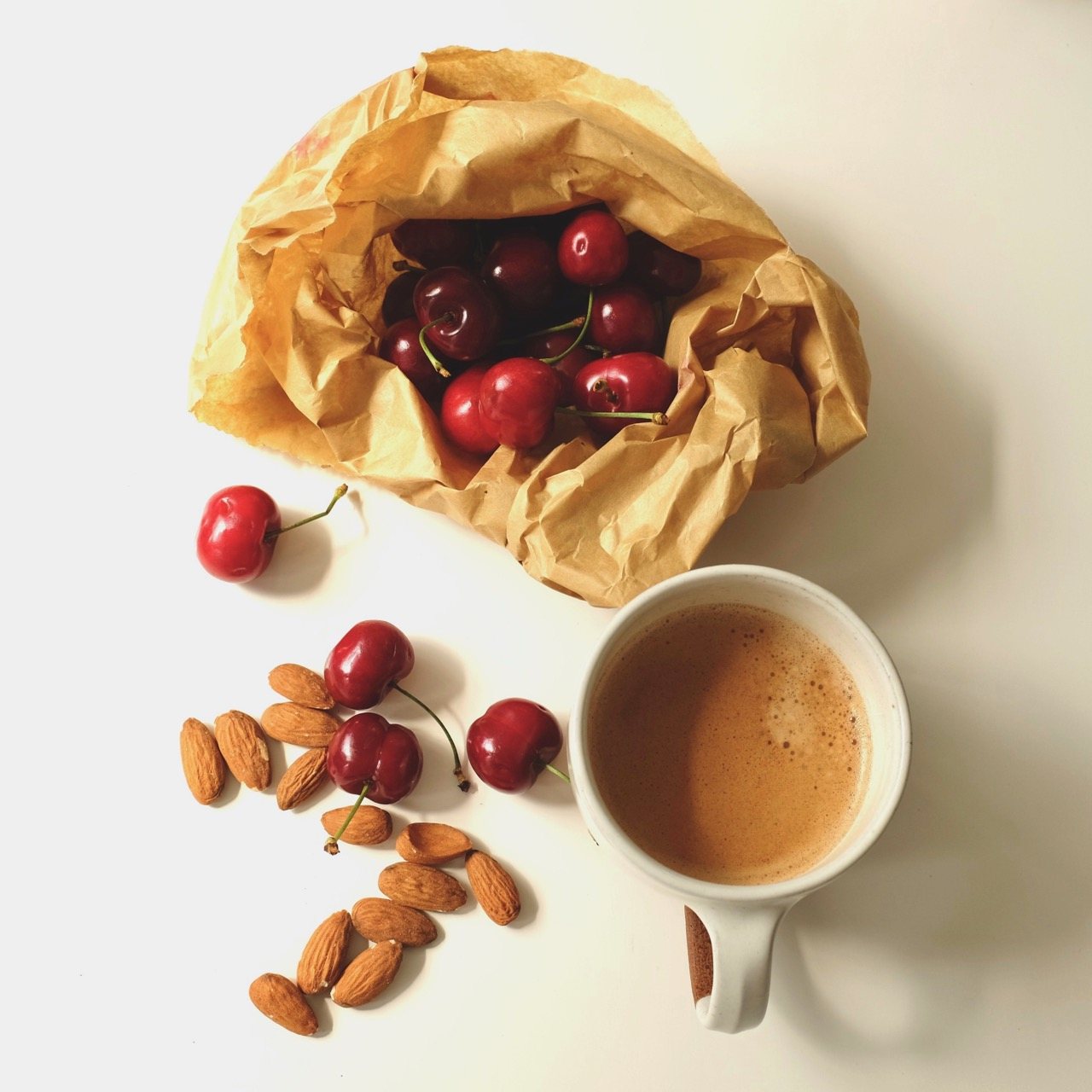 Cherries and coffee