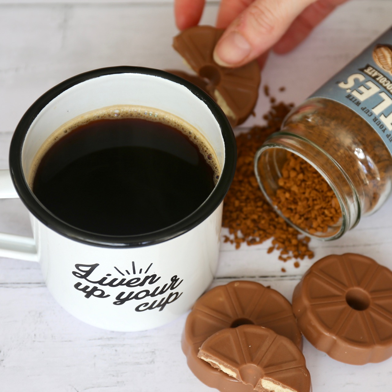 We are Little's Swiss chocolate infused instant coffee