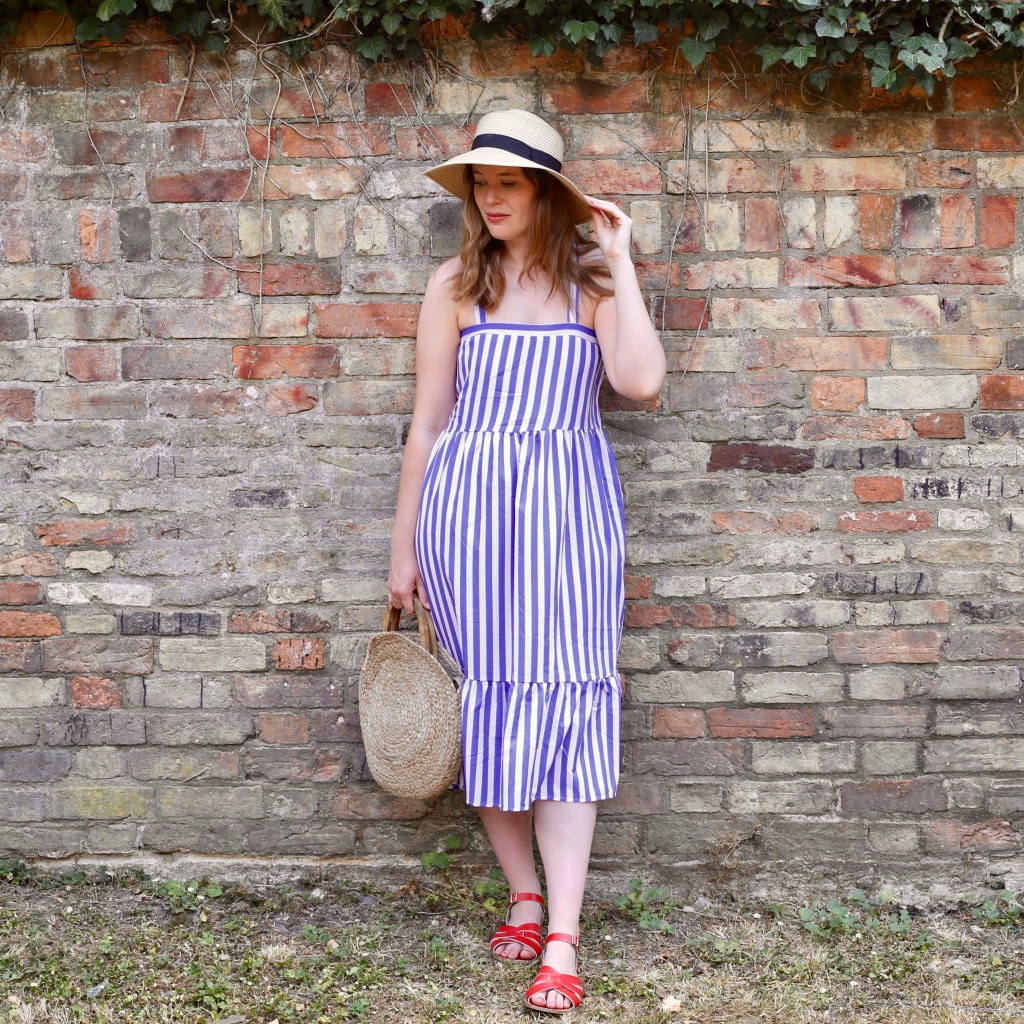 Boohoo stripy sun dress