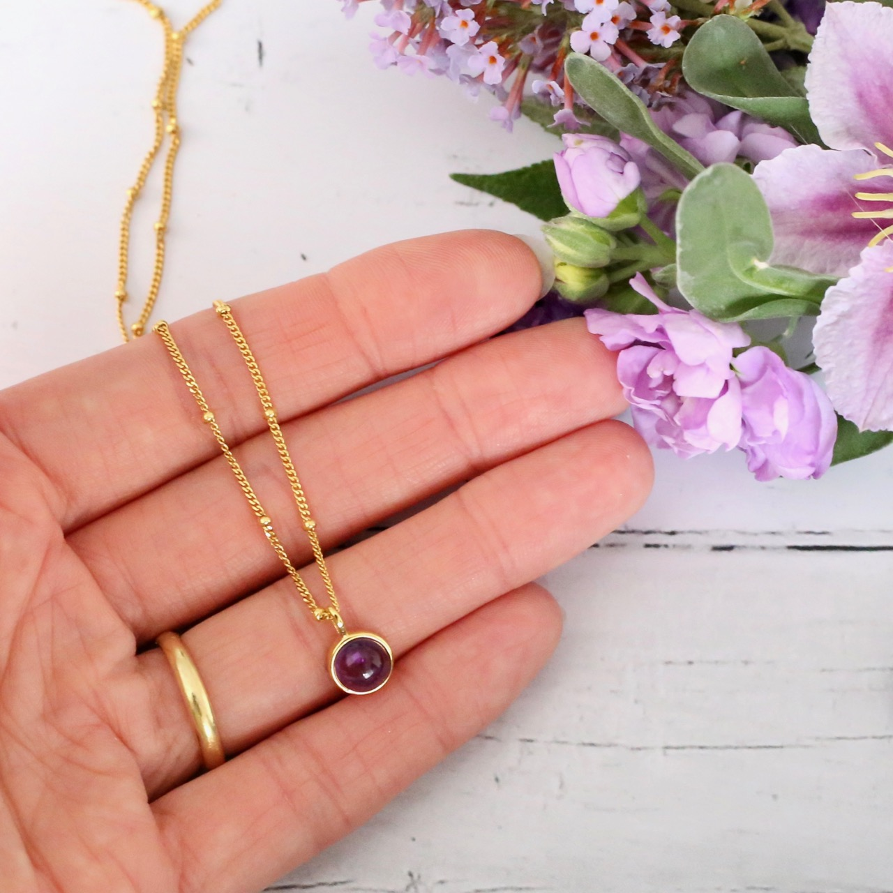 Daisy London amethyst pendant