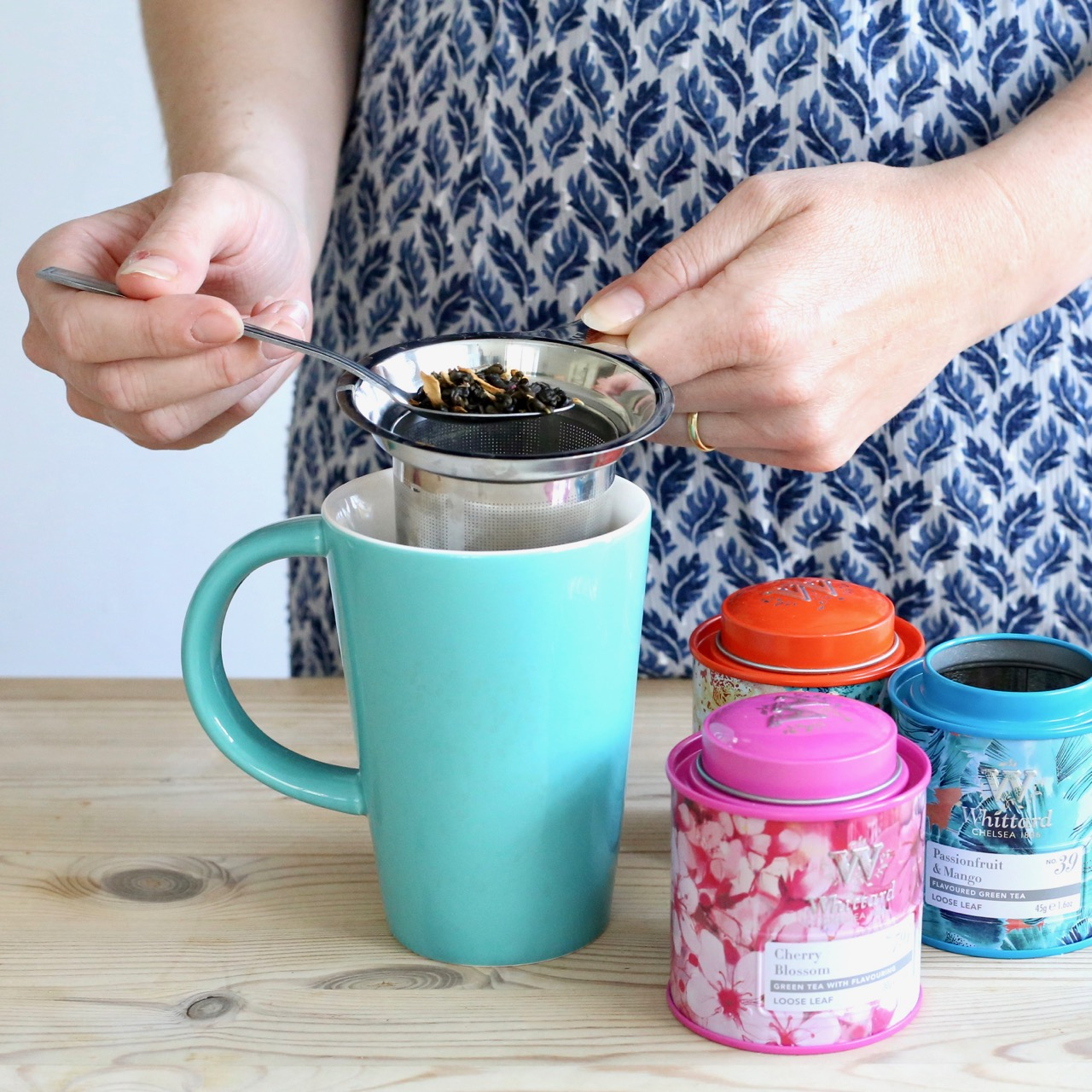 Whittards tea filter and Summer loose teas