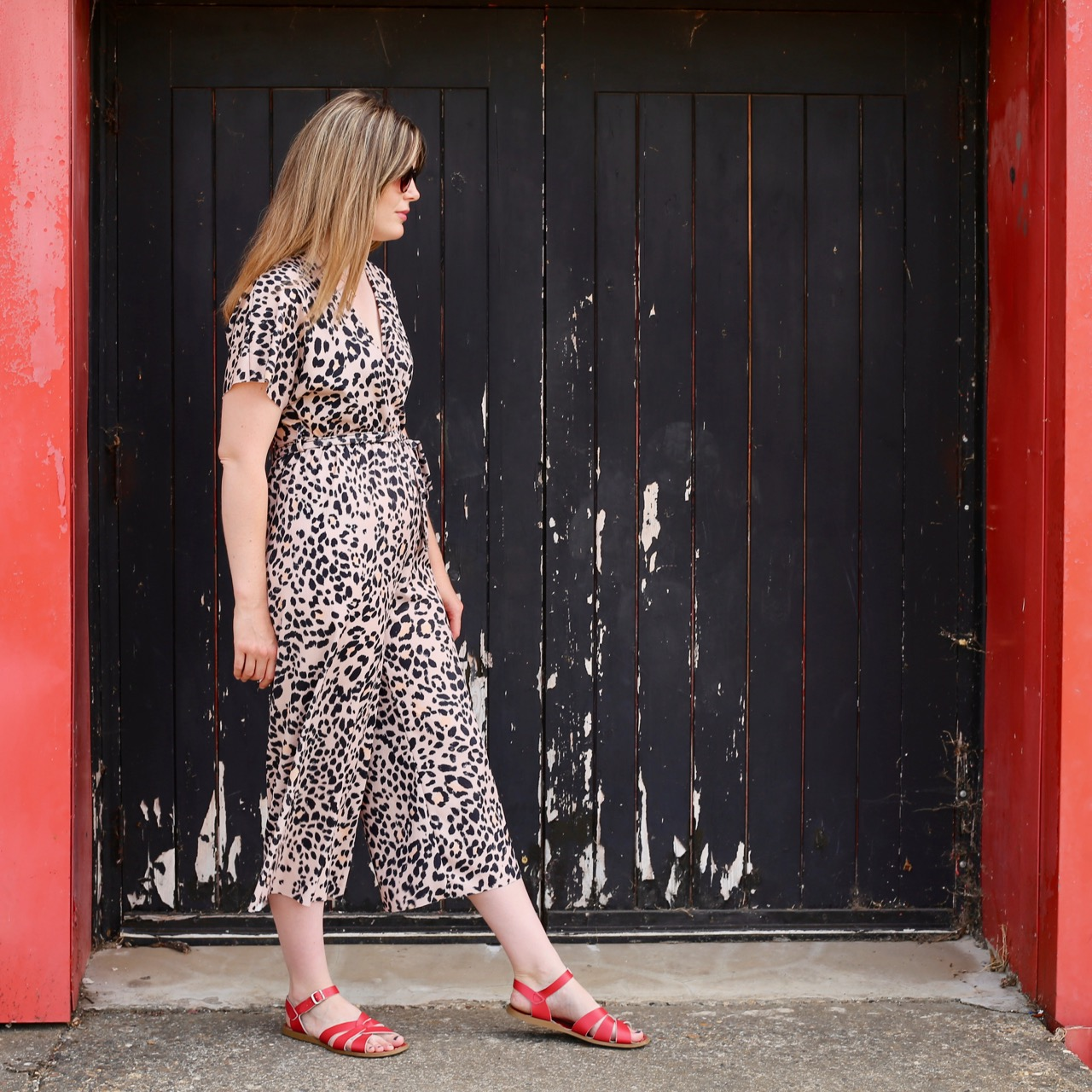 New Look leopard jumpsuit