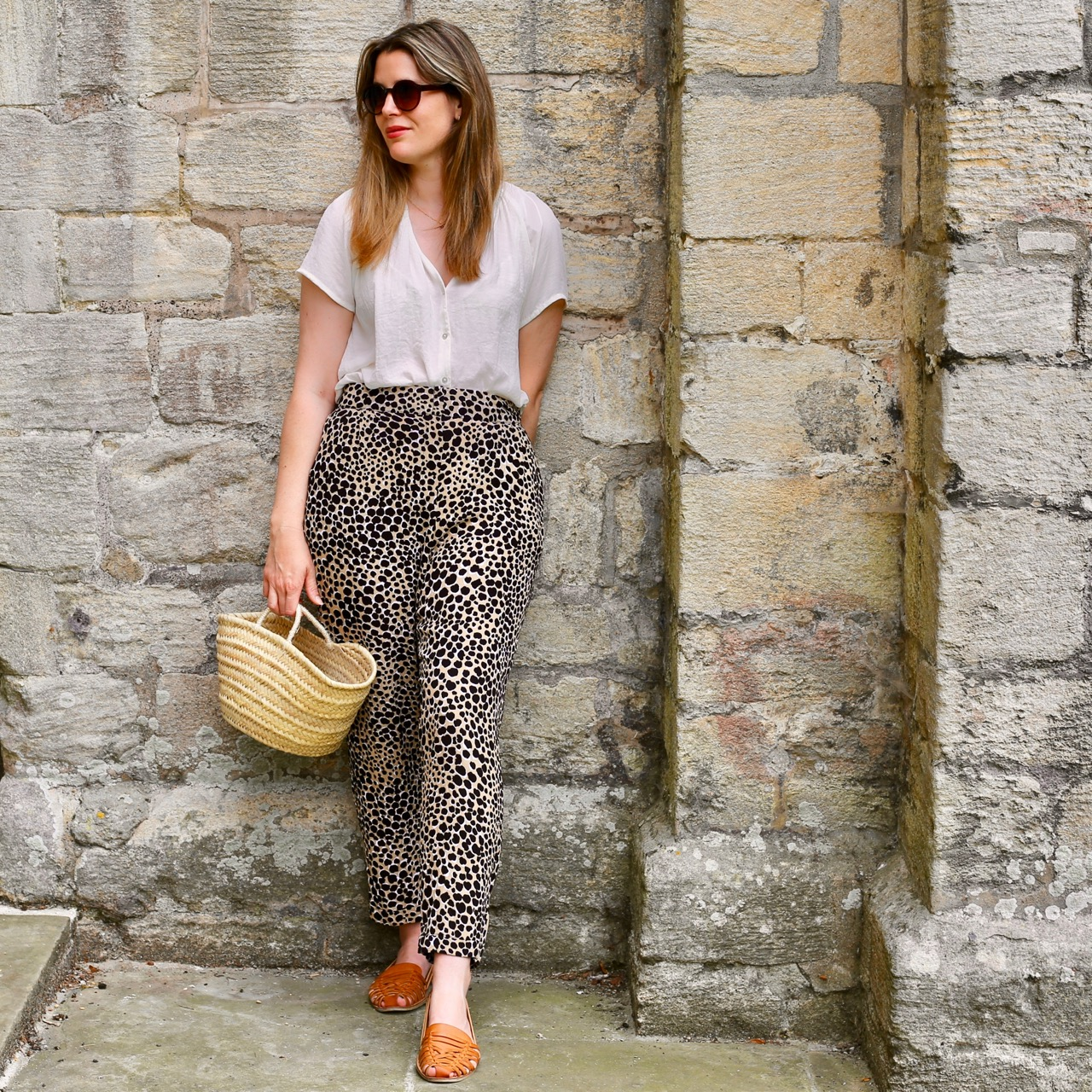 Cheetah print Warehouse trousers