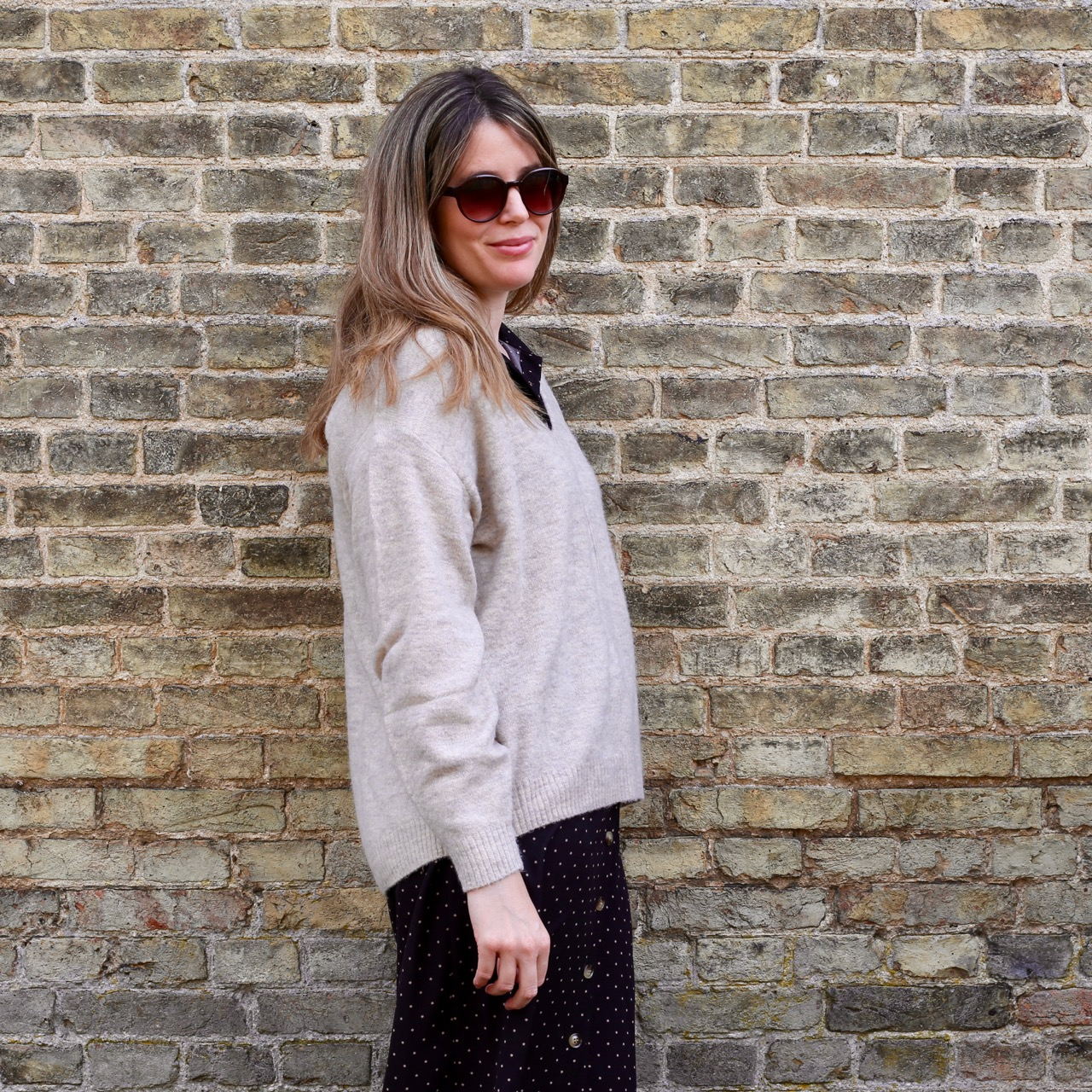 September fashion: shirtdress and jumper