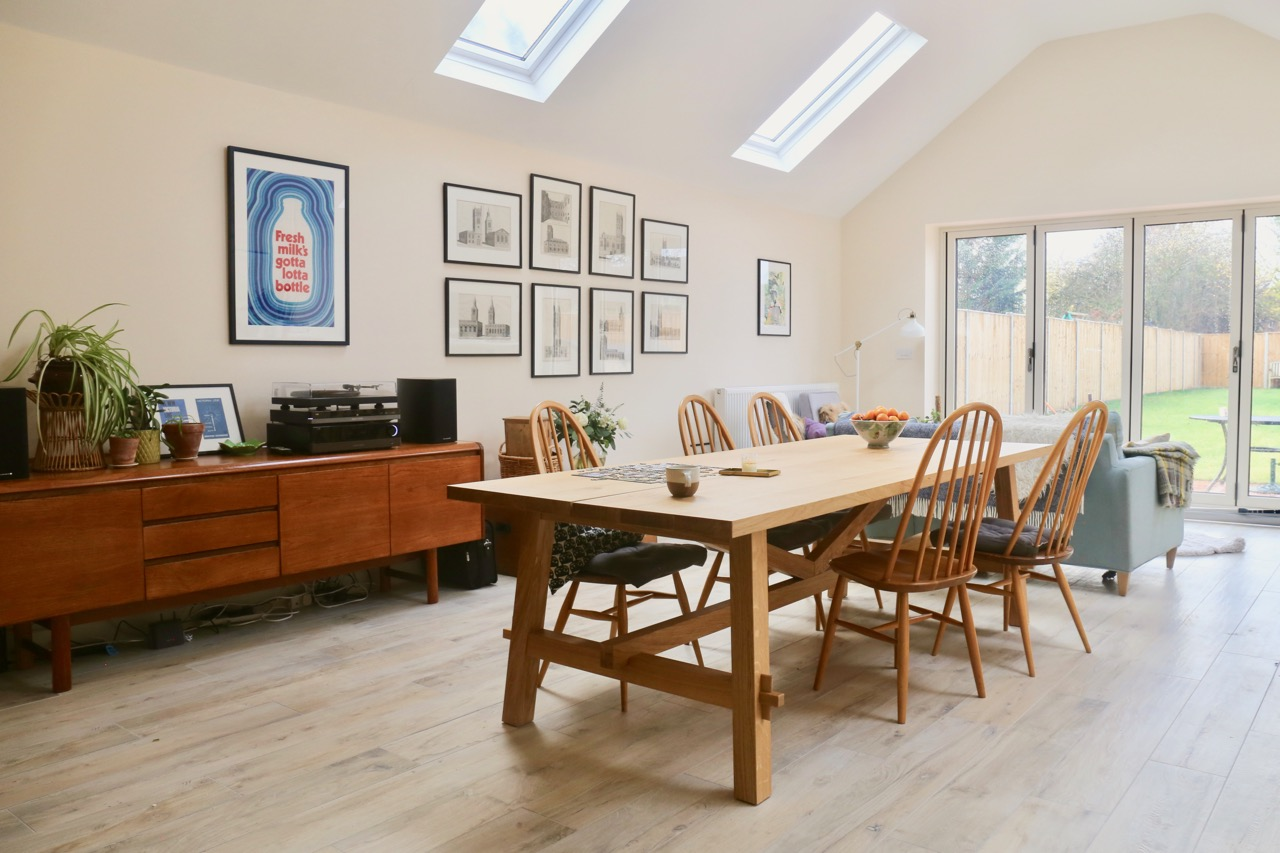 Our new house: scandi midcentury style
