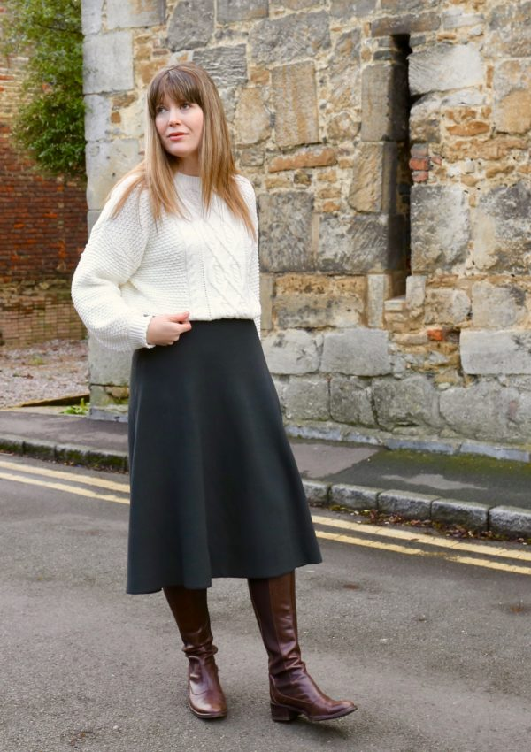 The knitted midi skirt
