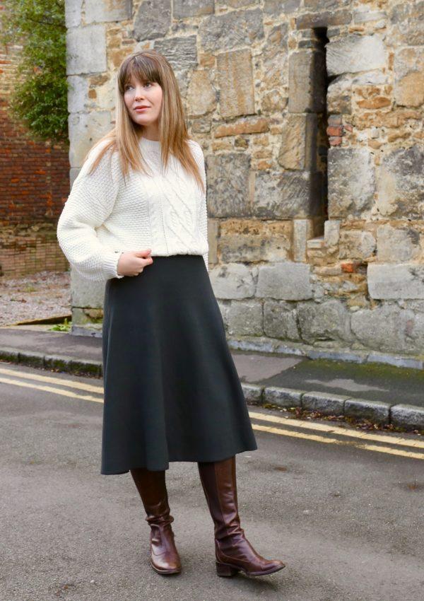 The knitted midi skirt