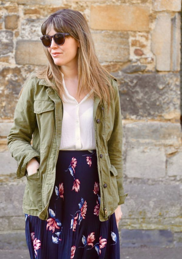 A floral skirt, three ways
