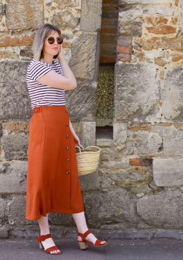 Easy style: the button through midi skirt