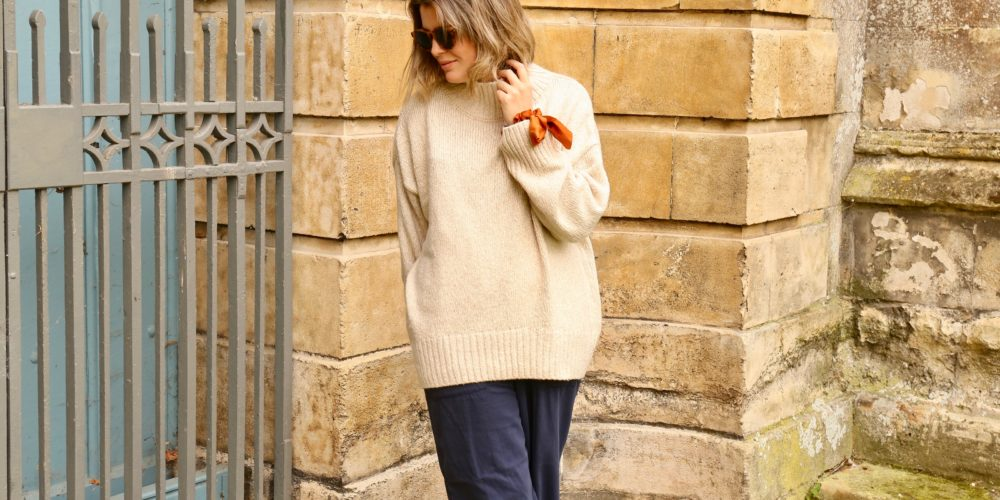 What to wear in September and autumn, chunky jumper
