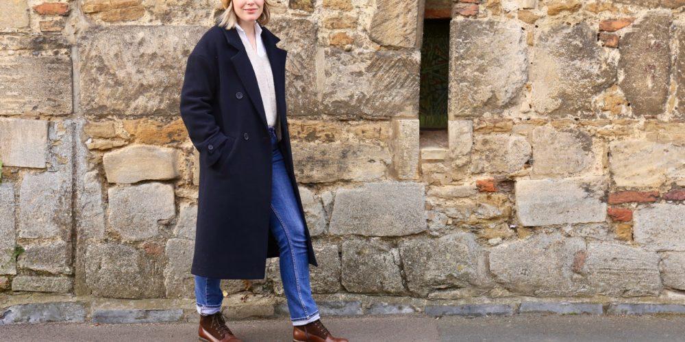 La Redoute navy wool overcoat