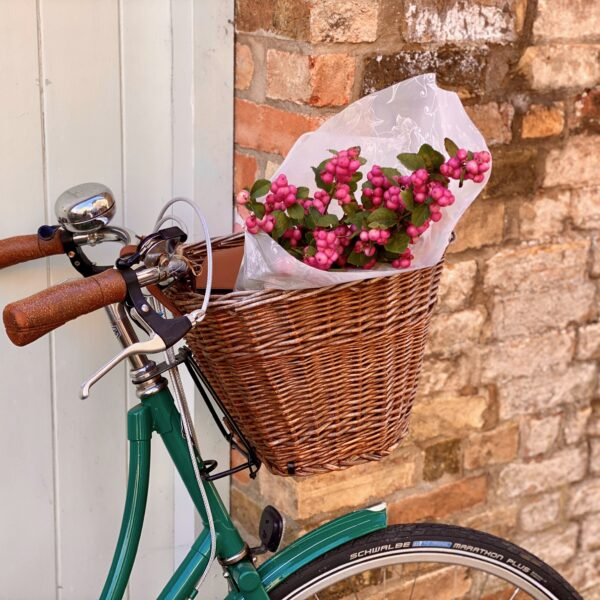 Pashley bicycle with flowers in basket